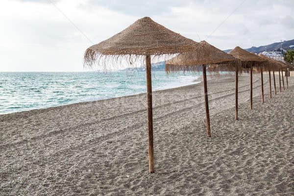 Saman boş plaj İspanya doğa kış Stok fotoğraf © amok