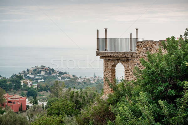 View of the observation deck and Benalmadena town Stock photo © amok