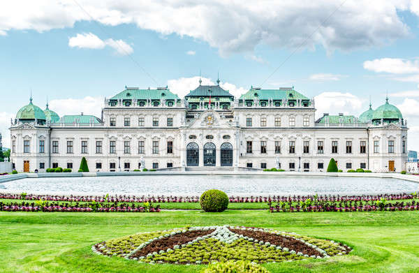 Day view of the Upper Belvedere in Vienna, Austria Stock photo © amok