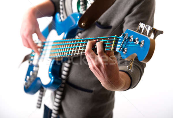 Man spelen gitaar jongen punk jazz Stockfoto © amok