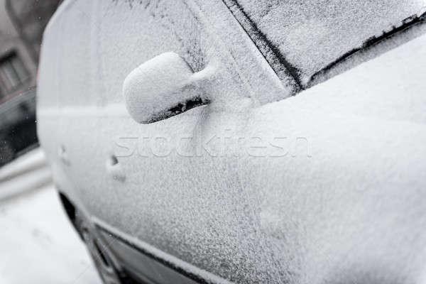 Autó fedett hó utca tél vihar Stock fotó © amok