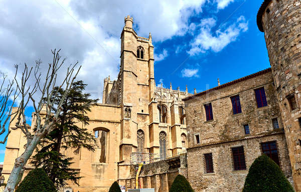 The Cathedral of Saint-Just and Saint-Pasteur, Narbonne. France Stock photo © amok