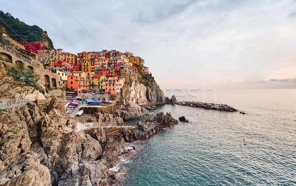日没 イタリア 小 村 イタリア語 ストックフォト © amok