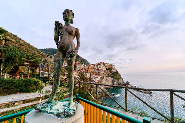 The Lady of the Grapes statue in Manarola Stock photo © amok