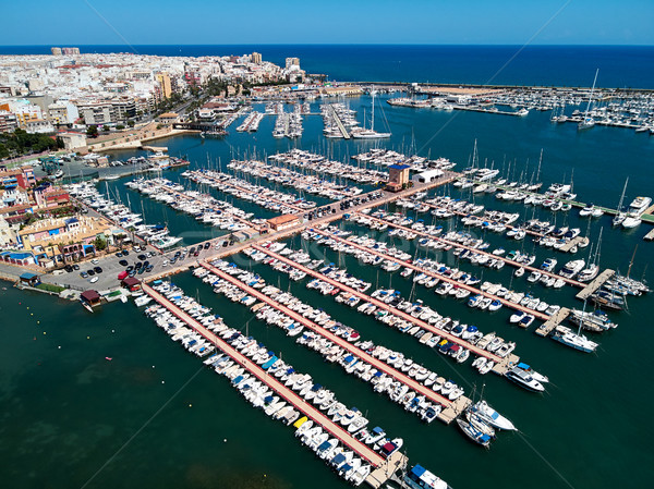 Torrevieja port, aerial view Stock photo © amok
