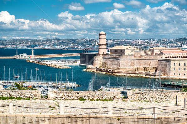 Fort Marseille Frankrijk bouw Stockfoto © amok