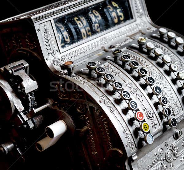 Antieke kassa geld retro verkoop financiële Stockfoto © amok