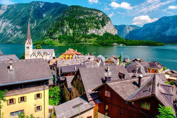 Görmek alpine köy Avusturya gökyüzü manzara Stok fotoğraf © amok