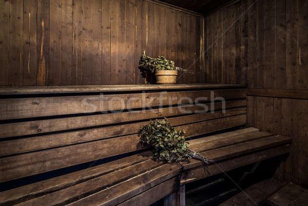 Roble dentro bano casa madera salud Foto stock © amok
