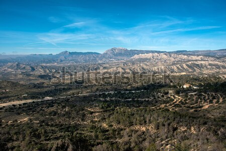 Mountain range in Alicante. Costa Blanca, Valencia. Spain Stock photo © amok