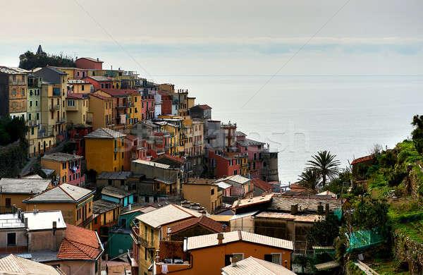カラフル イタリア語 村 ラ ユネスコ 世界 ストックフォト © amok