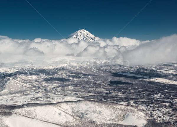 Cloudscape over Koryaksky volcano. Kamchatka, Russia Stock photo © amok