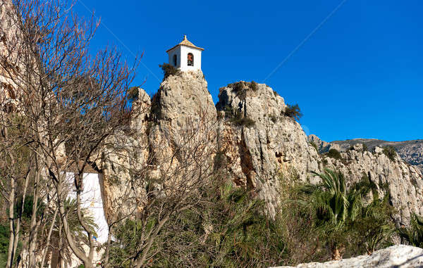 Bell tower on a rock of Guadalest. Spain Stock photo © amok