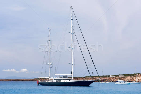 Vessels at Cala Saona bay in Formentera. Balearic Islands. Spain Stock photo © amok