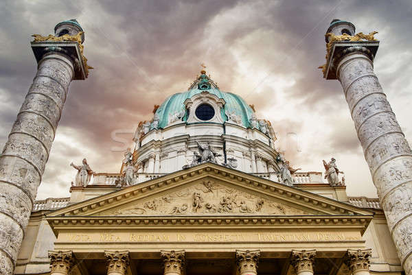 Stock photo: St. Charles's Church (Karlskirche), Vienna