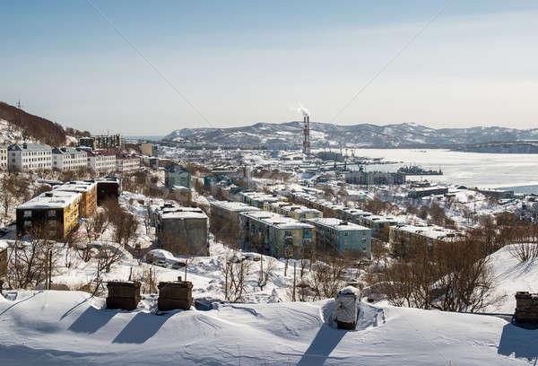 View calore centrale elettrica costruzione città tecnologia Foto d'archivio © amok