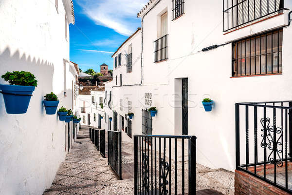 Picturesque street of Mijas Stock photo © amok