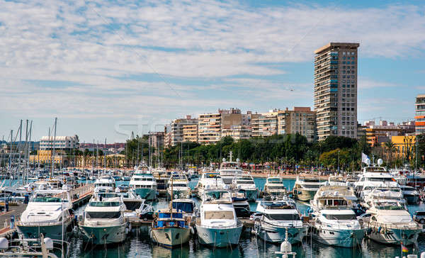 View of Alicante skyline and seaport. Costa Blanca, Spain Stock photo © amok
