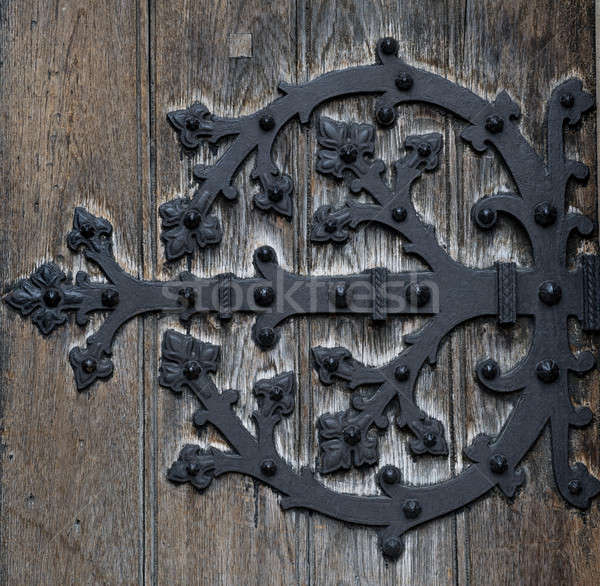 Ornate Door hinge close-up  Stock photo © amok
