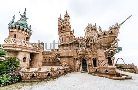 Panoramic view of Colomares Castle Stock photo © amok