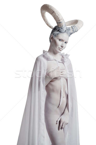 Sexy woman with goat body-art Stock photo © amok