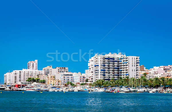 Waterside view to San Antonio de Portmany harbor.  Stock photo © amok