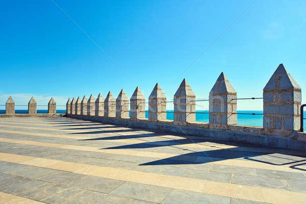 Roof of a Peniscola castle. Costa del Azahar, Spain Stock photo © amok