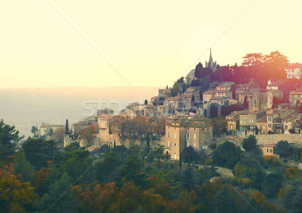 Picturesque village of Bonnieux Stock photo © amok