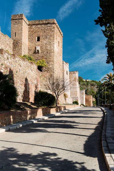замок малага Испания пейзаж Европа история Сток-фото © amok