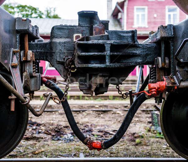 Train coupler close-up Stock photo © amok