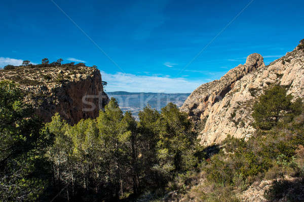 Rocky mountains in Alicante. Costa Blanca, Valencia. Spain Stock photo © amok