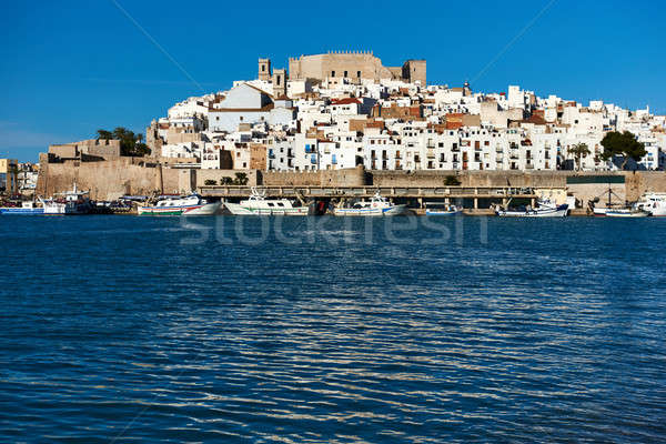 Harbor and old town of Peniscola. Spain Stock photo © amok