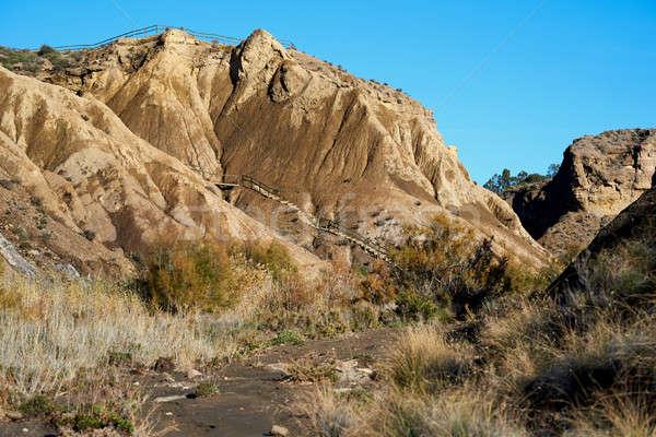 Tabernas Desert in Spain. Andalusia, Province of Almeria Stock photo © amok