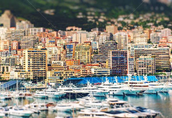 удивительный мнение Монако эффект город пейзаж Сток-фото © amok