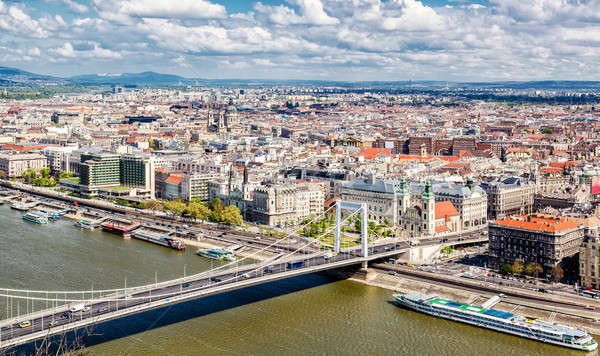View of Pest, eastern part of Budapest. Hungary Stock photo © amok