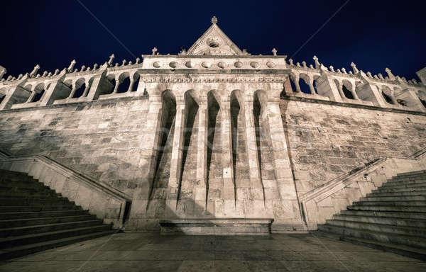 Bástya éjszaka Budapest Magyarország épület utazás Stock fotó © amok
