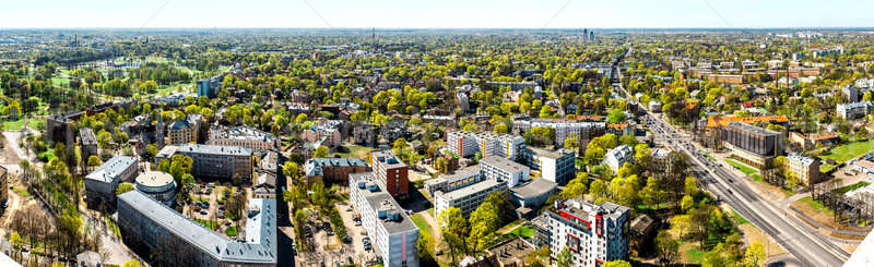Stock photo: Pardaugava. Panoramic view of Riga city neighbourhood. Latvia