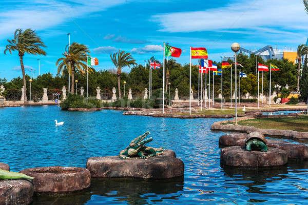 Park stad Spanje toegewijd Europa landschap Stockfoto © amok