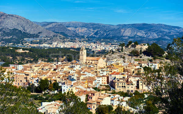 Spanish hillside village Polop de la Marina. Spain Stock photo © amok
