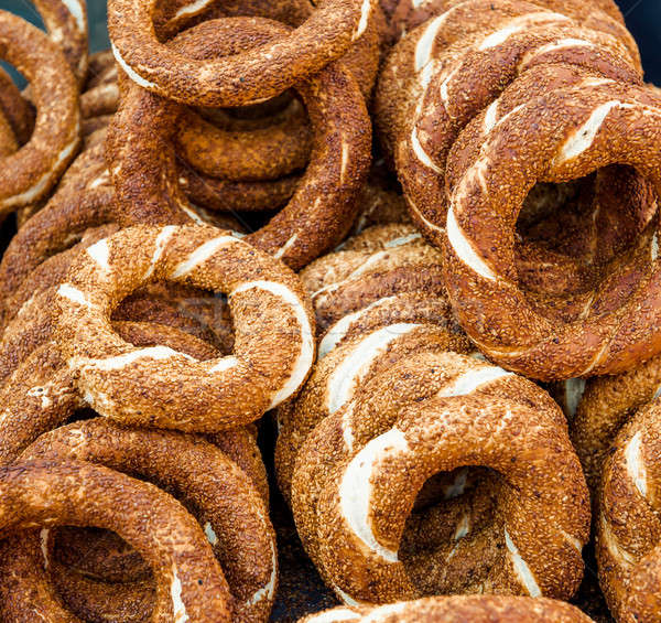 Turkish bagel, also known as simit Stock photo © amok