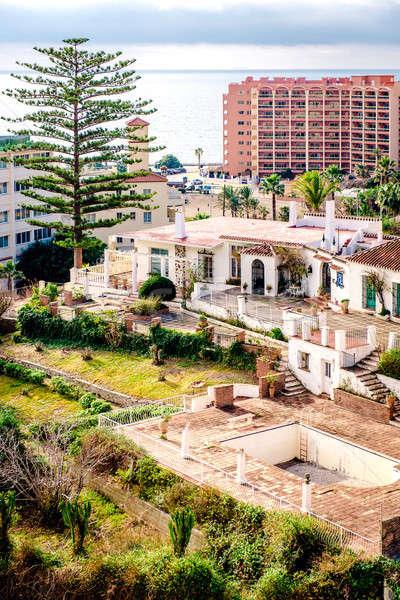 Yerleşim evler deniz kasaba malaga İspanya Stok fotoğraf © amok