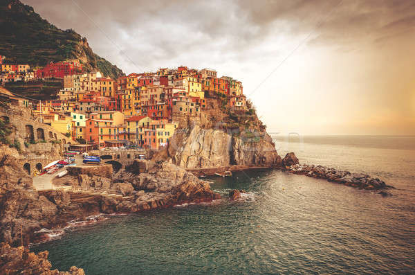 Picturesque Manarola at sunset Stock photo © amok