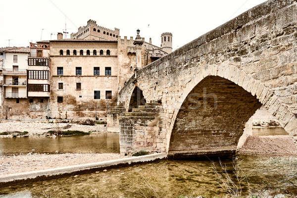 Middeleeuwse architectuur stad Spanje bouw stedelijke Stockfoto © amok