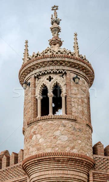 Tower of Colomares Castle. Benalmadena town. Spain Stock photo © amok