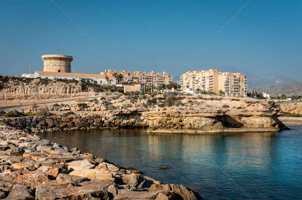 El Campello bay, is a coastal town on the Costa Blanca, Alicante Stock photo © amok
