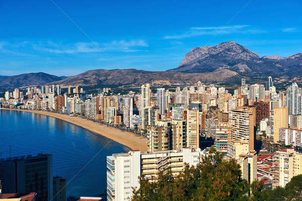 Benidorm city coastline. Spain Stock photo © amok