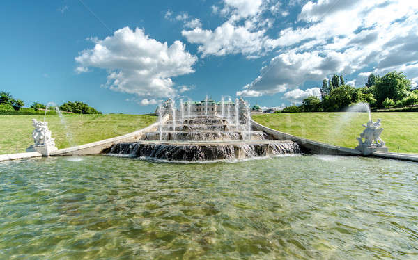 Fountain in Belvedere palace. Vienna, Austria Stock photo © amok