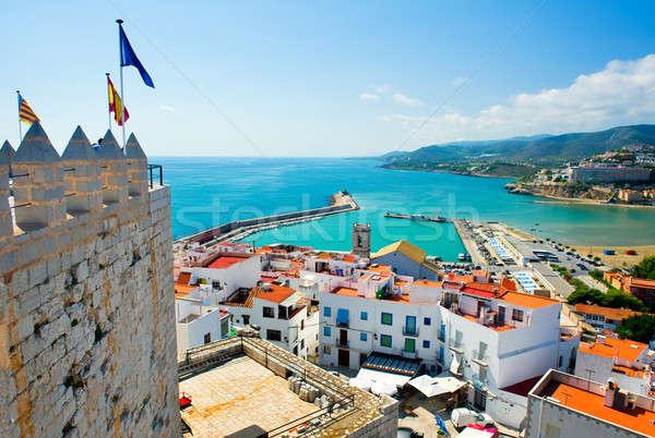 Widoku portu Walencja Hiszpania niebo miasta Zdjęcia stock © amok