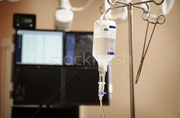 Intravenous drip system on a background of medical appliances Stock photo © amok
