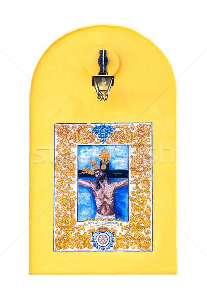 Foto d'archivio: Religiosa · ceramica · piastrelle · Gesù · Cristo · muro